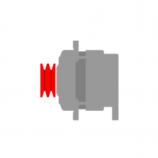 CAV (LUCAS) AC5RS/12/Y3, AC5RS12Y3 LICHTMASCHINE 12V MET REG.
